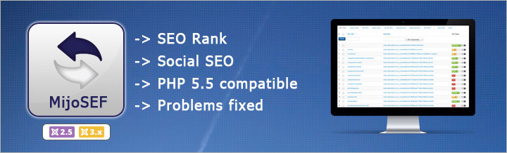 MijoSEF 1.5 released, SEO Rank and Social SEO