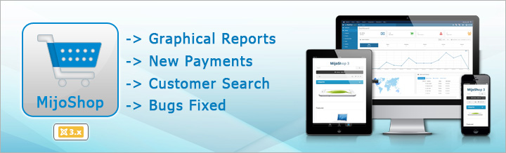 MijoShop 3.2 released, new Reports and Payments