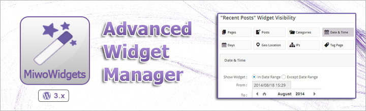 Introducing MiwoWidgets, WP Widget Manager