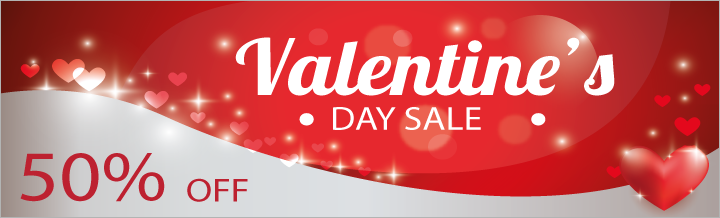 Happy Valentine's Day! Time to save 50%