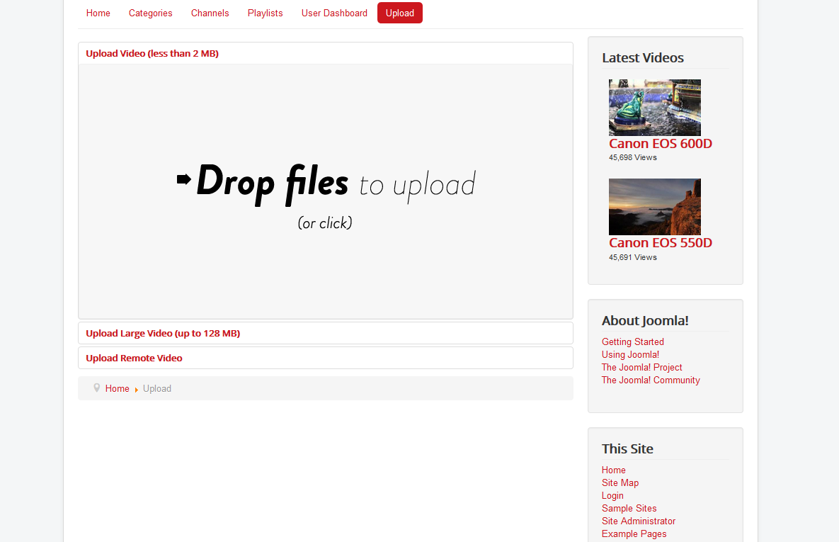 Front-end: Drag & Drop Upload