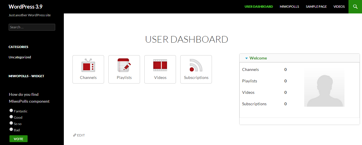 Front-end: User Dashboard